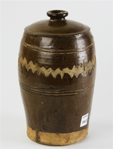 Early 18thC Japanese Pottery Jar