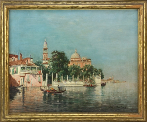 Jos Lombard, Venice View, Oil on Canvas