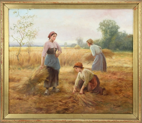 Jardines, Collecting the Hay, Oil on Canvas