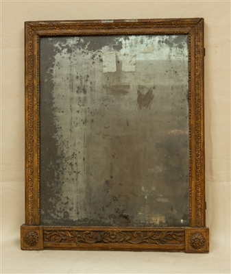 18thC French Carved Wood Mirror