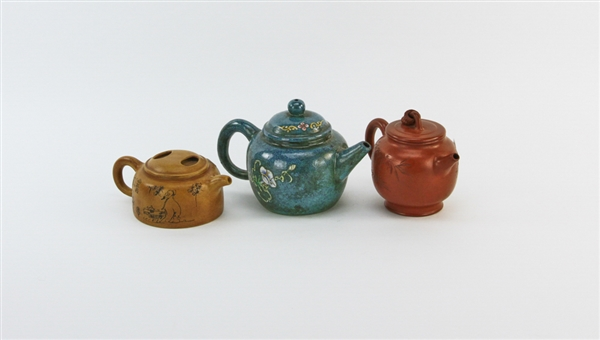 (3) Chinese Yixing Pottery Teapots