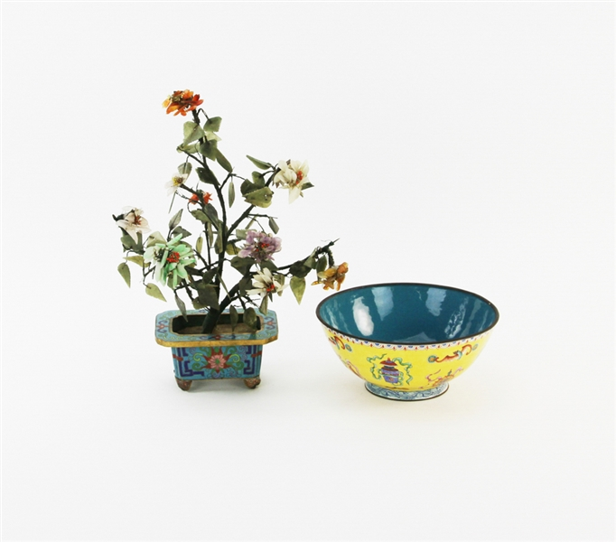 Chinese Cloisonne Flower, Bowl