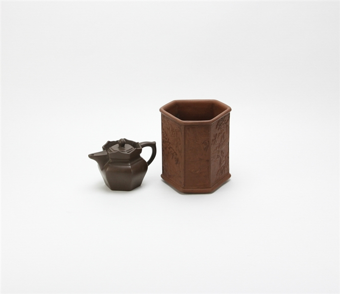 Two Chinese Yixing Pottery Items