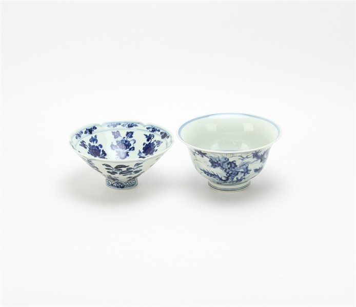 Two Chinese Ming Style Porcelain Bowls