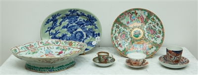 Chinese Rose Medallion Dish and Other China