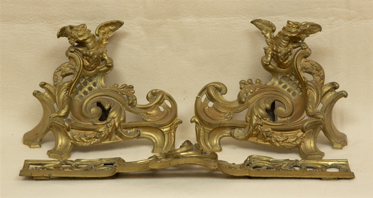 Pair of Louis XV Style Andirons