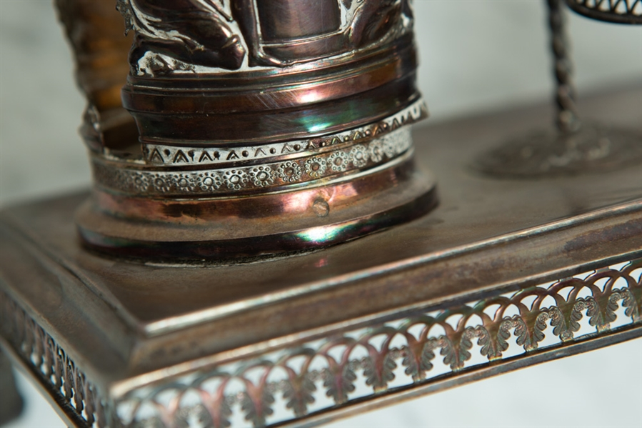 19thC French Silver Condiment Holder
