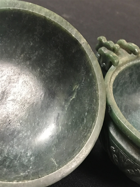 Chinese Spinach Green Covered Censer