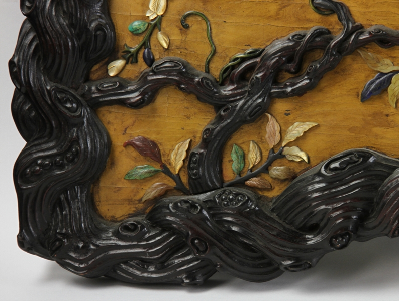 Large Chinese Zitan Wood Plaque