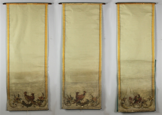 Antique Hand Painted Window Shades