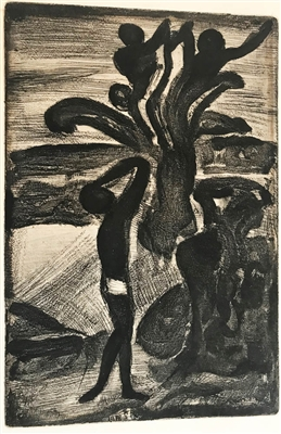 George Rouault Etching with Aquatint