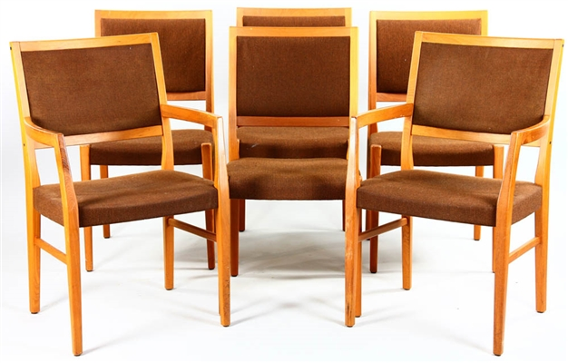Set of Six Upholstered Chairs