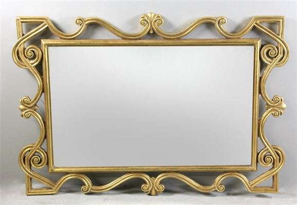 Beveled Glass Mirror with Gilt Frame