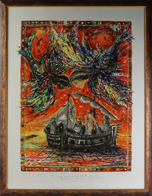 Bruno Zupan, Ulysses and Sirens, Serigraph
