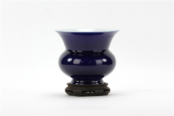 Chinese Blue Glazed Zadou Jar