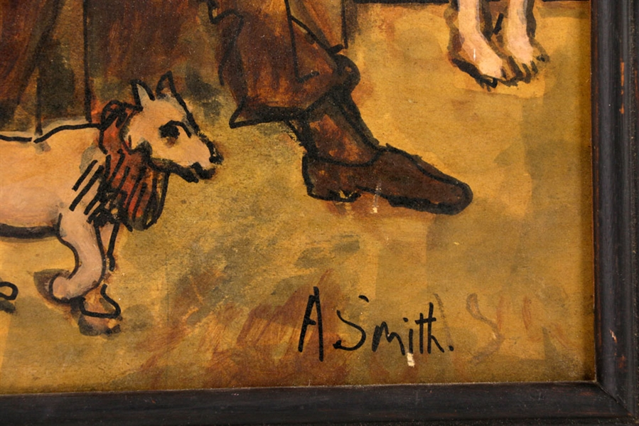 Smith, Two Illustrations, Oil on Board