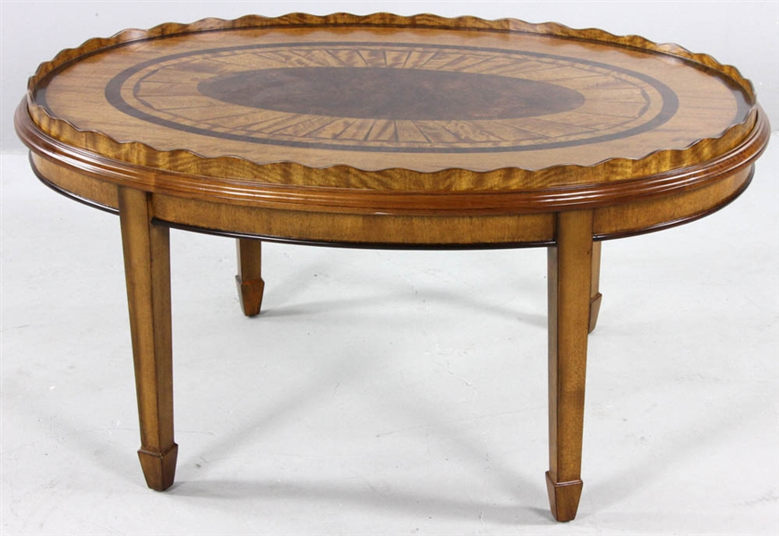 Regency-style Oval Cocktail Table