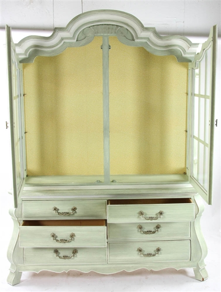 Drexel Continental Style Painted Cabinet