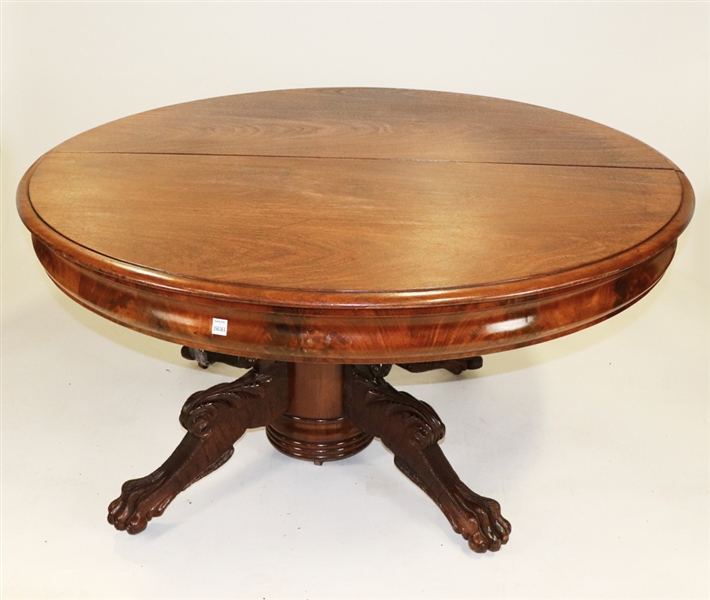 Victorian Flame Mahogany Pedestal Table