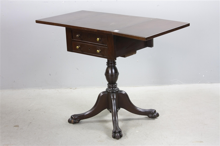 American Empire Style Drop Leaf Table