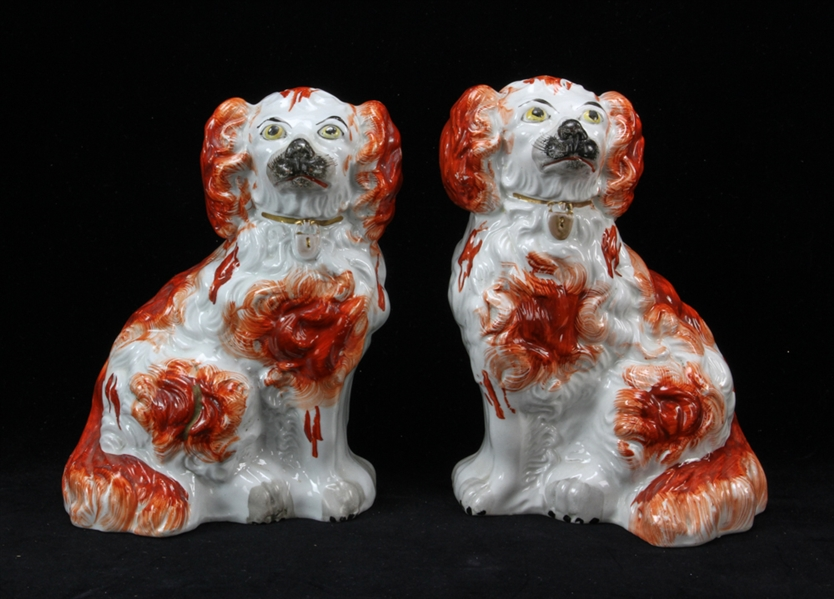 Collection of 19th C Staffordshire Spaniels