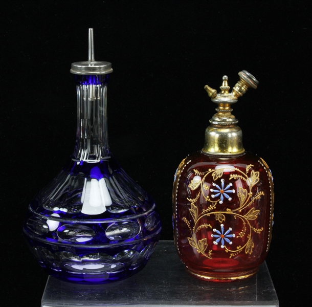 Group of Glass Scent Bottles