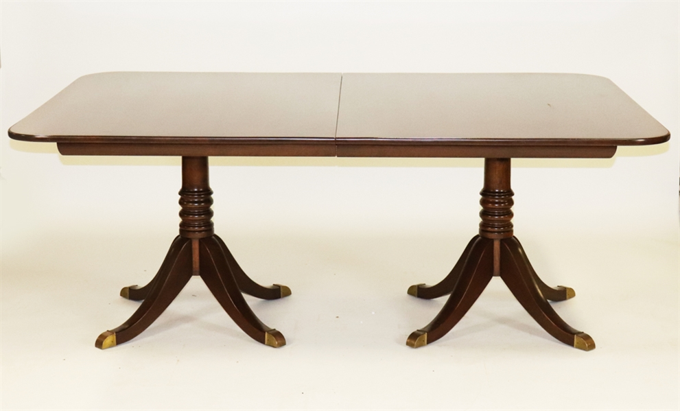 Mahogany Double Pedestal Dining Table