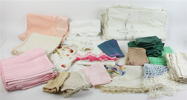 Large Collection of Vintage Linens