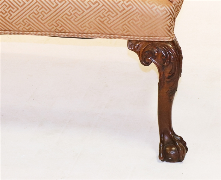 19th Century Upholstered Settee