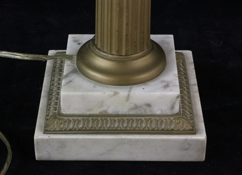Marble and Brass Astral Lamp
