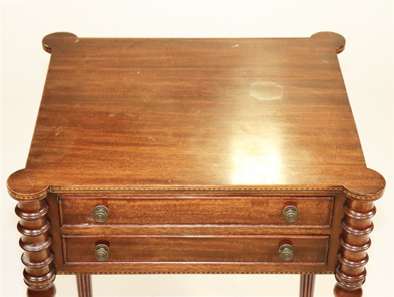Mahogany Two Drawer Stand