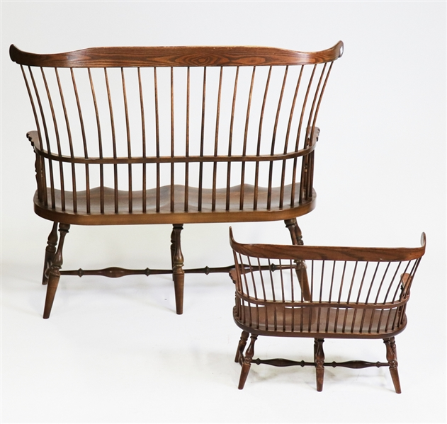 Two DuckLoe Bros. Windsor Style Benches