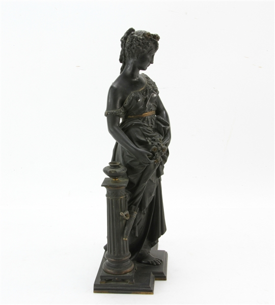Grand Tour Bronze Sculpture of Woman