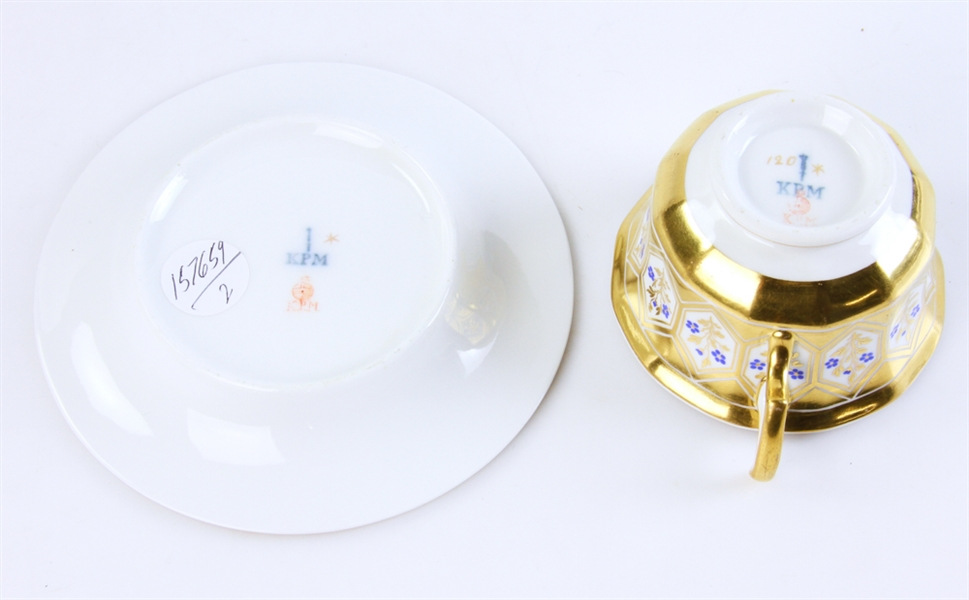 KPM Porcelain Cup and Saucer