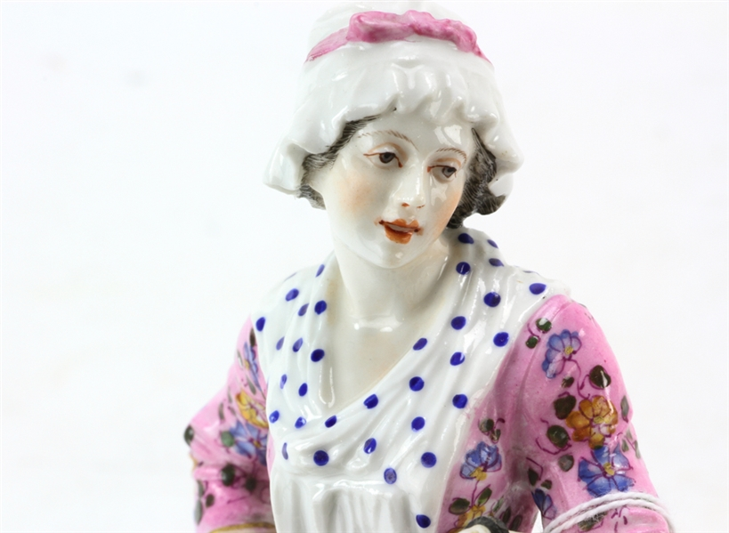 Meissen Porcelain Figure of Young Girl