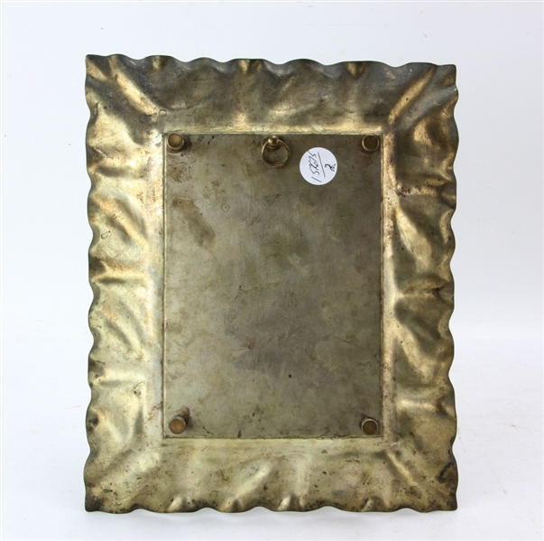 Pair of Wall Plaques and Brass Luster