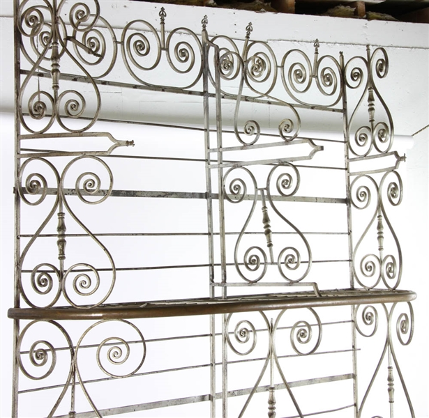 Antique Wrought Iron Bakers Rack