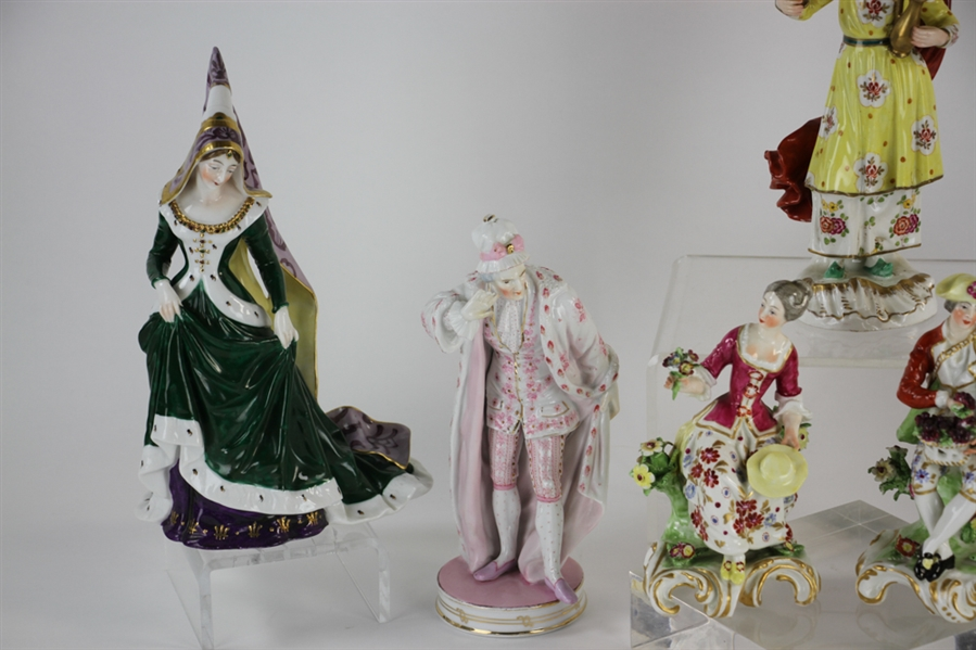 Collection of (7) Porcelain Figurines
