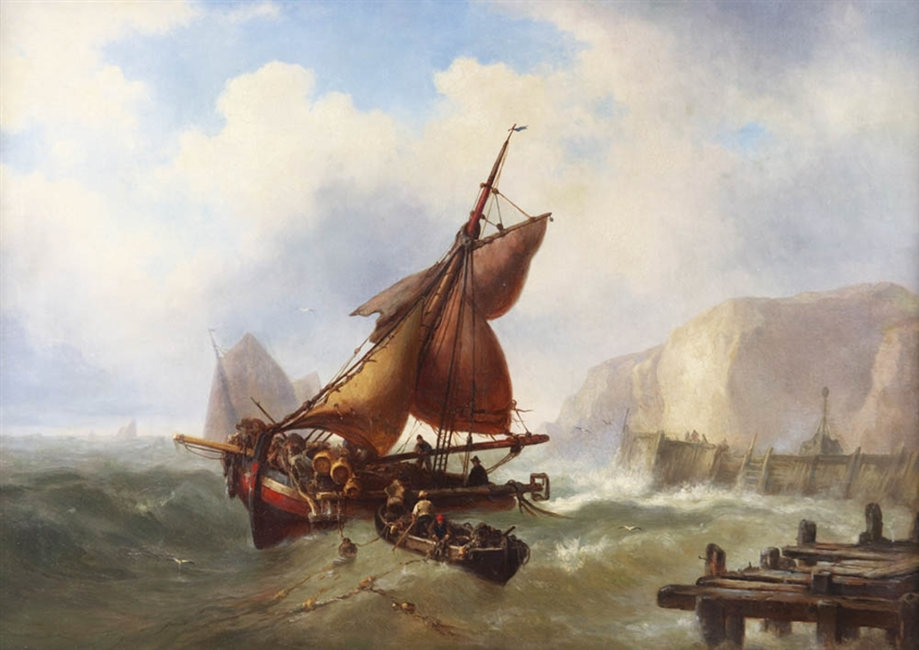 Mauritz Hendrick de Haas, Ship in Peril