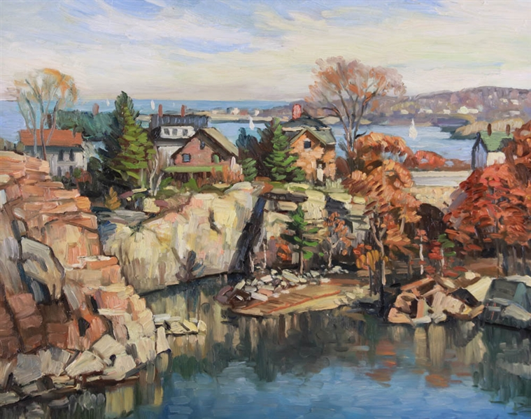 Ken Knowles, Oil on Board, Rockport Quarry