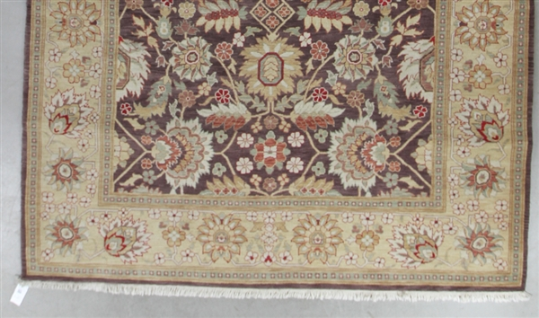 Semi Antique Indian Sultanabad Rug