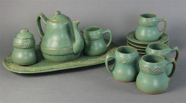 Arts and Crafts Pottery Tea set