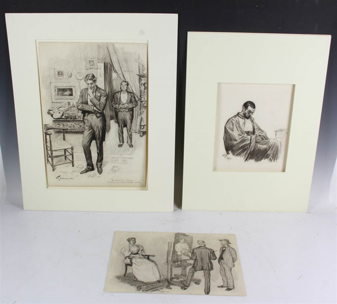 William Thomas Smedley Pencil Drawings