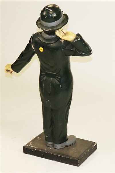 Charlie Chaplin Carved and Painted Wood Figure