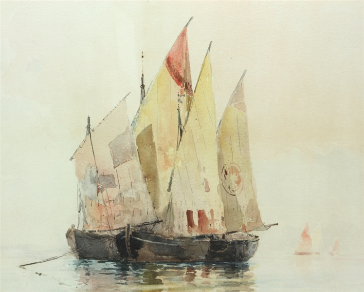 Ross Turner, Sailboats, Watercolor