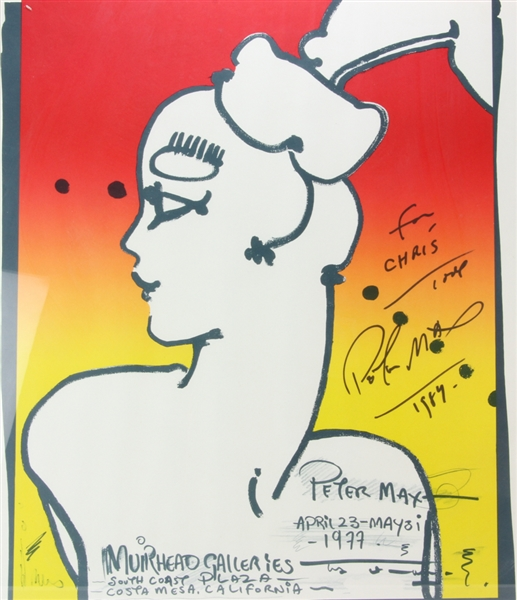 Peter Max, Muirhead Galleries Poster