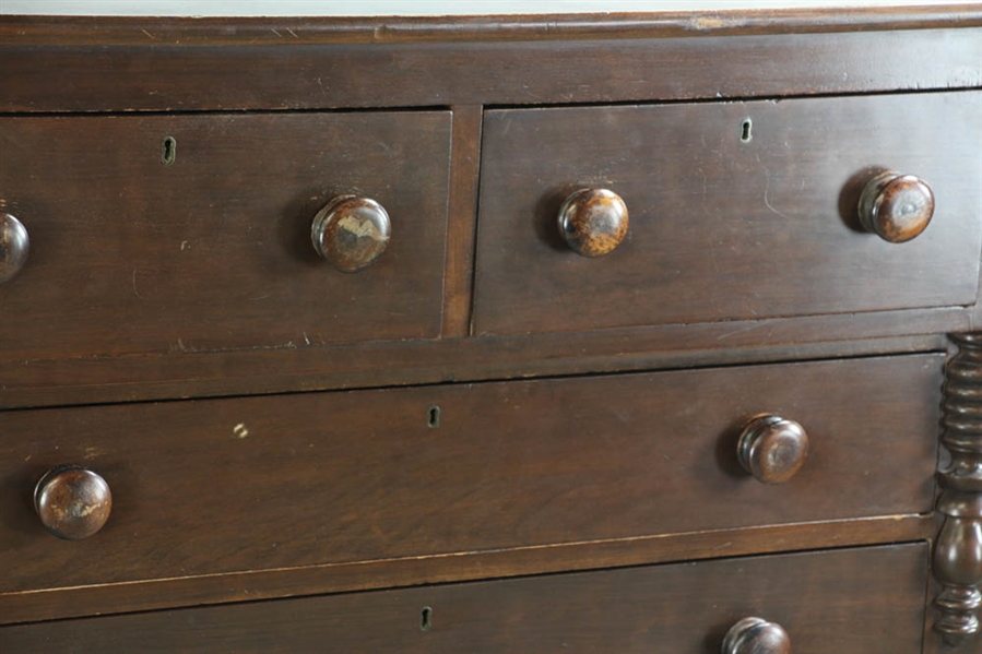 Pine Two-Over-Three Drawer Chest