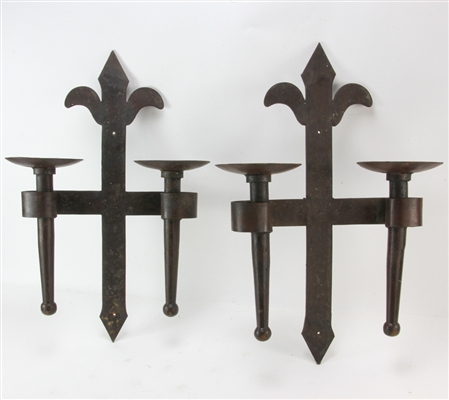 19th Century Iron Wall Sconces