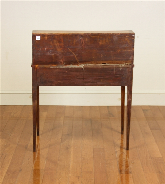 19thC French Cylinder Top Writing Desk