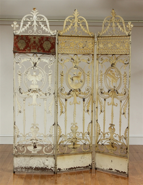 Exceptional C1920 Three Panel Screen